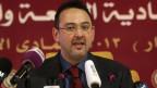 Khaled Saleh, ein Sprecher der syrischen National Koalition, spricht während der Eröffnungssitzung des Gipfels der Arabischen Liga in Doha, Qatar, am 26. März 2013.