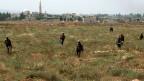 Soldaten der syrischen Armee in der Nähe der Ortschaft al-Qusair.