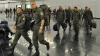 UNO-Blauhelm-Soldaten aus Österreich auf dem Weg zu einem Einsatz im Golan Ende 2012. Nun zieht Österreich seine Soldaten von dort zurück. Nun zieht