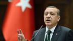 Der türkische Premier Recep Tayyip Erdogan, am 11. Juni vor dem türkischen Parlament in Ankara.