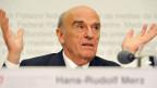 Alt-Bundesrat Hans-Rudolf Merz im 2008: «An diesem Bankgeheimnis werdet Ihr Euch noch die Zähne ausbeissen»