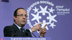 Frankreichs Staatspräsident François Hollande hält die Eröffnungsrede an der Sozial-Konferenz, in Paris, 20. Juni 2013.