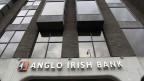 Die Büros von einer Filiale der Anglo Irish Bank im Zentrum von Dublin, Irland.