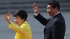 Der chinesische Präsident Xi Jinping (rechts) begrüsst die südkoreanischen Präsidenten Park Geun-Hye  in Peking, China, am 27. Juni 2013.