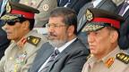 Der ägyptische Präsident Mohammed Mursi bei seiner Amtseinführung im Juli 2012. Unterstützt nun die Armee die Opposition?