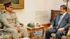 Armeechef Abdel Fatah al-Sisi und Präsident Mohammed Mursi im August 2012.