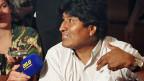 Der bolivianische Präsident Evo Morales, am 3. Juli auf dem Wiener Flughafen Schwechat.