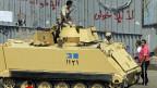 Panzer der ägyptischen Armee, am 8. Juli in der Nähe des Kairoer Tahrirplatzes.