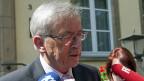 Der luxemburgische Premier Jean-Claude Juncker, am 11. Juli, beim Verlassen seines Büros.