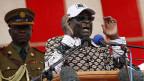 Zimbabwes Machthaber Robert Mugabe an einer Wahlkampfveranstaltung, am 11. Juli 2013.
