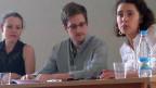 Edward Snowden an einer Medienkonferenz auf dem Moskauer Flughafen, am 12. Juli 2013.