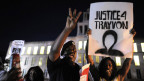 Bürgerprotest vor dem Gericht in Florida