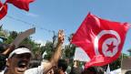 Proteste gegen die neue tunesische Verfassung, am 29. Juni 2013 in Tunis.