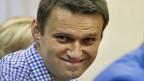 Alexej Nawalny bei der Urteilsverkündung, am 18. Juli in Kirow, Russland.