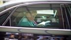 Bundeskanzlerin Angela Merkel nach der Medienkonferenz - und vor ihren Ferien.