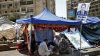 Zeltstadt der protestierenden Muslimbrüder in Nasr City, Kairo.