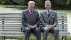 Der alte und der neue König von Belgien: König Albert II. und sein Sohn König Philipp.