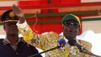 Zimbabwes Präsident Robert Mugabe am 15. Juli auf Wahlkampftour.
