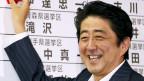 Abe freut sich über seine gewählten Abgeordneten