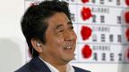 Der japanische Premierminister Shinzo Abe nach seinem Wahlsieg in Tokio.