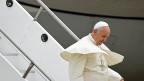 Papst Franziskus bei seiner Ankunft in Rio de Janeiro.