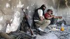 Kämpfer der freien syrischen Armee am 17. Juli in Idlib. Ihre Hoffnung auf Unterstützung aus dem Westen hat sich zerschlagen.