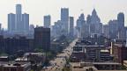 Blick auf Detroit am 19. Juli 2013.