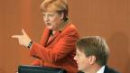 Bundeskanzlerin Angela Merkel und Kanzleramtsminister Ronald Pofalla.