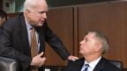 Die Senatoren John McCain (links) und Lindsey Graham reisen nach Ägypten. Sie werden Klartext reden.