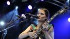 Die Schweizer Sängerin Heidi Happy am 34. Paleo Festival in Nyon.
