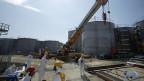 Die Tanks mit radioaktivem Wasser beim AKW Fukushima.