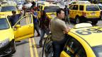 San Franciscos Taxifahrer protestieren gegen private Fahrdienste, am 30. Juli 2013.