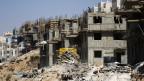 Blick auf eine Baustelle in der Westbank in der jüdischen Siedlung Beitar Illit, nahe Bethlehem am 11. August 2013.