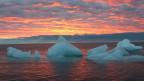 Sonnenuntergang in Barrow, Alaska