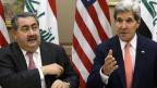 US-Aussenminister John Kerry (rechts) mit dem irakischen Aussenminister Hoshyar Zebari am 15. August 2013 in Washington.
