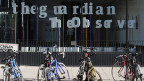 Ein Mitarbeiter der Zeitung wurde stundenlang aufgrund der Anti-Terror-Gesetze festgehalten. Die Büros der Zeitung The Guardian in London, am 20. August 2013.