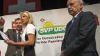 Brunner, Amaudruz und Maurer an der DV in Genf