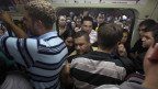 Überfüllte U-Bahn in Brasilien