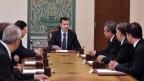 Assad bei einer Kabinettssitzung in Damaskus