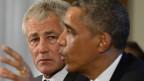 US-Verteidigungsminister Hagel und Präsident Obama