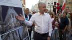 Bürgermeister Sobjanin eröffnet eine Fussgängerzone