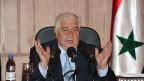 Syriens Aussenminister Walid Mualem während einer Medienkonnferenz in Damaskus am 27. August.