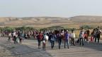 SWyrische Flüchtlinge an der Grenze zu Irak.