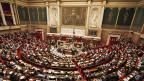 Die Assemblée Nationale in Paris.