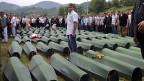 Eine Gedenkfeier in Srebrenica im Juli 2013 - für die mehr als 8000 Opfer des Massakers von 1995.