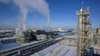 China hofft auf Öl und Gas aus den zentralasiatischen Ländern. Bild: Ein Öl- und Gasfeld in Kasachstan.