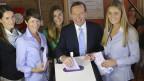der neue australische Premierminister bei der Stimmabgabe