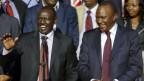 Kenias Staatsspitze: Vizepräsident William Ruto (links) und Präsident Uhuru Kenyatta.