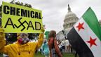 Proteste gegen Bashar al-Assad vor dem Weissen Haus in Washington.