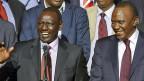 Kenias Vizepräsident William Ruto und Präsident Uhuru Kenyatta am 9. März 2013 in Nairobi.